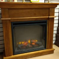 CRESTWOOD ELECTRIC FIREPLACE IN MANTEL