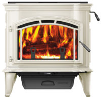 Explorer III Wood Stove - Photo (Unit Only, Porcelain Frost, 4C, Low Res)