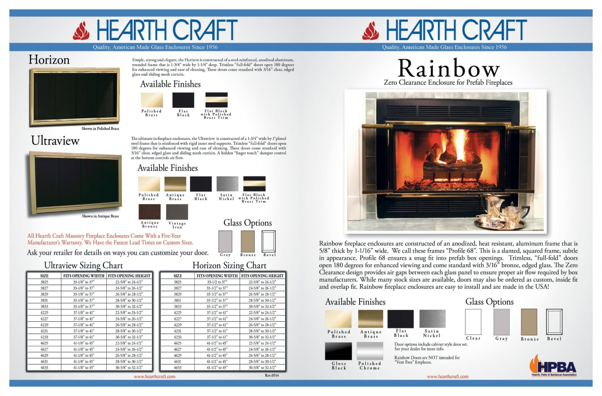 Hearth Craft Glass Doors For Masonry Fireplaces